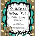 Because of Winn Dixie Problem Solving Task Cards