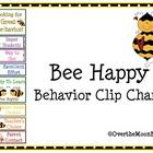 Bee Happy Behavior Clip Chart