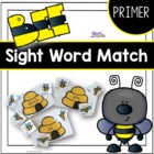 Bee Matching Primer Sight Words