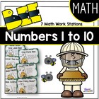 Bee Math Work Station Activities