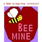 Bee Mine Valentines Day Coordinate Graphing / Ordered Pair