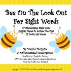 Bee On The Look Out For Sight Word-Differentiated I-Spy Activity