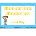 Bee Theme Behavior Clip Chart