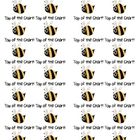 Bee Top of the Chart Stickers or Labels