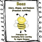 Bees ~ Color, Shapes, and Numbers (Preschool Activities)