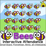 Bees Interactive Attendance Sheet for Interactive Whiteboards