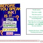 Before You Speak...THINK Poster components