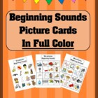 Beginning Consonant Sounds Picture Cards in Full Color