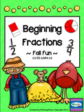 Beginning Fractions - Practice Page Set - Fall