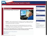 Beginning Gaming Teacher's Toolkit