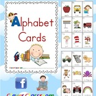 Beginning-Initial Sounds Alphabet Cards - 4 pages