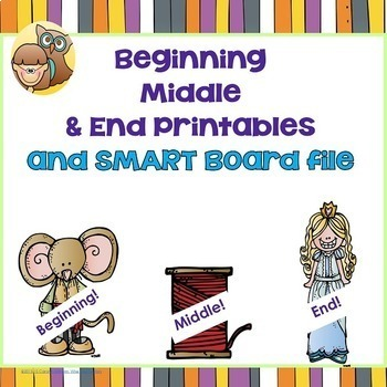 Beginning, Middle, and End Writing, SMART board and PDF