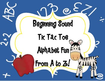 Beginning Sound Tic Tac Toe