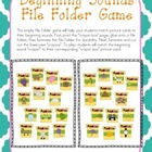 Beginning Sounds File Folder Game