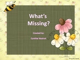 Beginning Sounds Literacy Station - What's Missing?