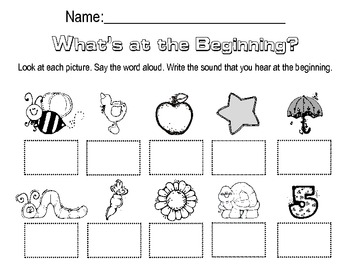 Lang. Arts: Beginning Sounds - Lessons - Tes Teach
