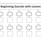 Beginning Sounds with Leaves