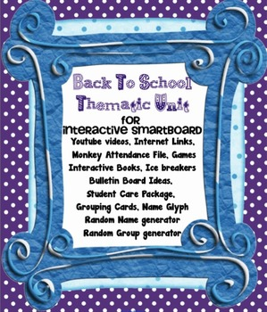 ... of School Year First Day Activities - Back to School SMARTboard file