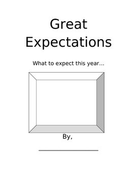 Beginning of school year Expectations Packet