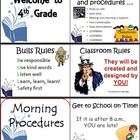 Classroom Procedures Checklist on Power Point - Beginning