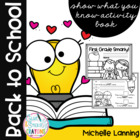 Beginning of the year informal assessment-First Grade Smarty