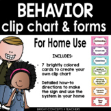 Behavior Chart and Forms: Home Use