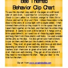 Behavior Clip Chart Bee Themed