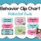 Behavior Clip Chart~ Polka Dot Owls
