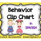 Behavior Clip Chart- Spanish