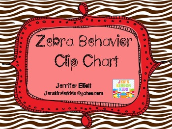 Behavior Clip Chart~ Zebra Theme