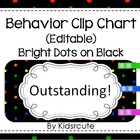 Behavior Clip Chart~Rainbow Bright Dots on Black~ Editable