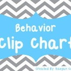 Behavior Clip Charts - Color and B/W