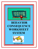 Behavior Consequence Dictionary Worksheets