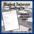 Behavior Contract for Students