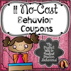 Behavior Coupons:  10 pages of Reward Coupons