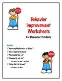 Behavior Improvement Worksheets