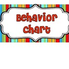 Behavior Management Color Chart