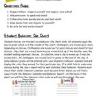 Behavior Management Procedures Parent Letter