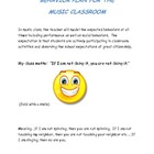 Behavior Plan for the Music Classroom (Poster)