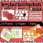 Berry Sweet Quick Page Bundle