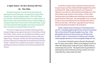 Descriptive Christmas Essay