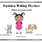 Best Pet Opinion / Tell Why / Argumentative Writing Packet