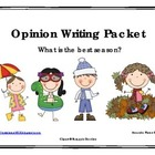 Best Season Opinion / Tell Why / Argumentative Writing Packet