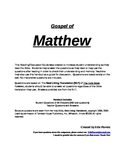 Bible Study of The Gospel of Matthew