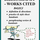 Bibliography - Works Cited: Instructions/Practice, Style S