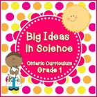 Big Ideas Posters for Grade 1 Science - Ontario Curriculum