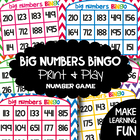 Big Numbers Bingo - A Printable Game for Numeral Identification