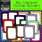 Big Scalloped Doodle Borders: For Personal & Commercial Use