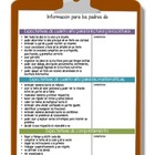 Bilingual Parent Conference Sheet for 4th Grade