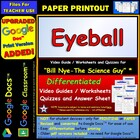 Bill Nye - Eyeball – Worksheet, Answer Sheet, and Two Quizzes.